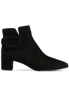 Roger Vivier 45mm Polly Suede Ankle Boots