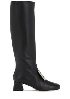 Roger Vivier 45mm Tres Vivier Leather Tall Boots
