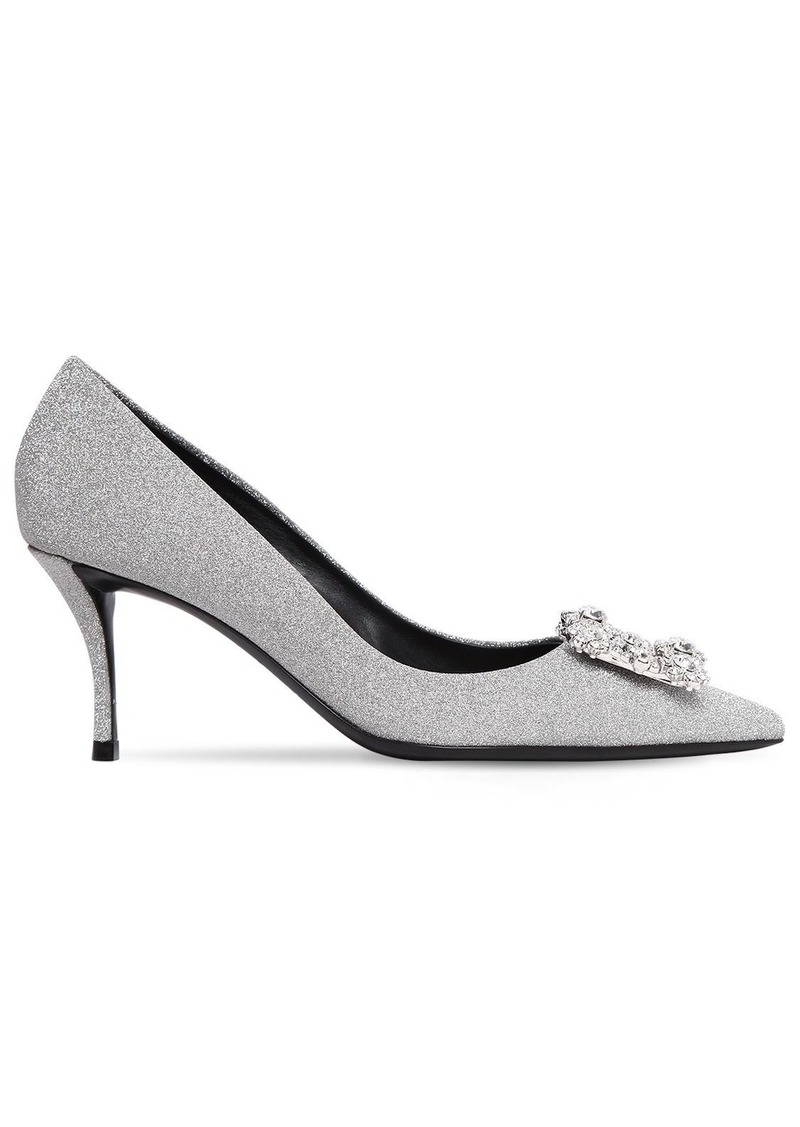 7d0c865edd9 Roger Vivier 65mm Flower Glittered Pumps