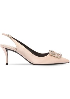 Roger Vivier 65mm Flower Satin Pumps