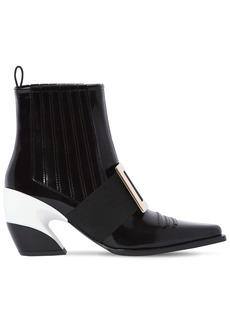 Roger Vivier 65mm Viv Tex Leather Cowboy Boots
