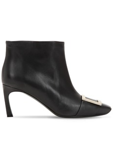 Roger Vivier 70mm Trompette Leather Ankle Boots