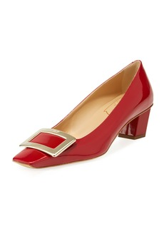 Roger Vivier Belle Vivier 45mm Patent Buckle Pumps