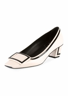 Roger Vivier Belle Vivier Graphic 45mm Leather Pumps