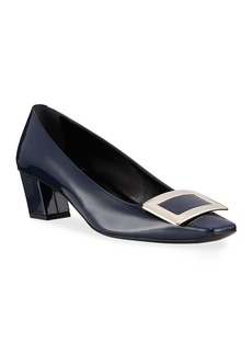 Roger Vivier Belle Vivier Patent Leather 45mm Block-Heel Pumps