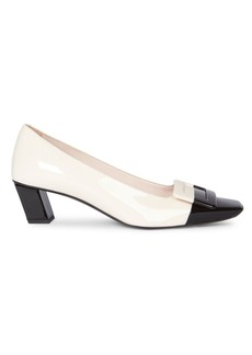 Roger Vivier Belle Vivier Two-Tone Patent Leather Pumps