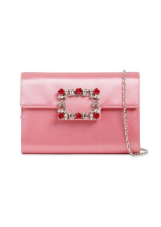 Roger Vivier Broche Amour Satin Clutch