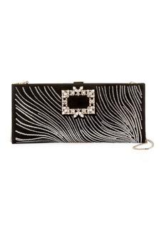 Roger Vivier Broche Crystal Wave Clutch Bag