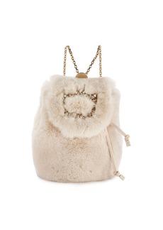 Roger Vivier Broche Fur Mini Backpack
