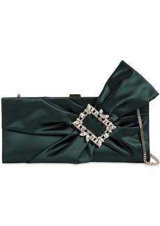 Roger Vivier Broche Satin Clutch W/ Embellished Bow