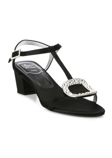 Roger Vivier Chips Crystal-Embellished Satin Sandals