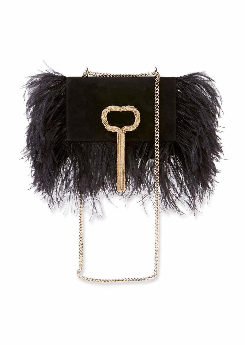 Roger Vivier Club Chain Feathers Evening Clutch Bag   Handbags dd9351684c