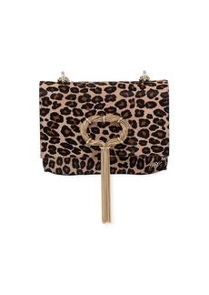 Roger Vivier Club Chain Leopard Hairhide Clutch Bag
