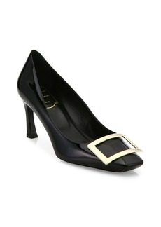 Roger Vivier Decollete Trompette Patent Leather Pumps