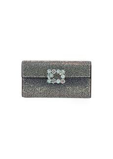 Roger Vivier Flower Iridescent Crystal Clutch Bag