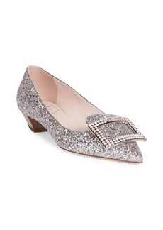 Roger Vivier Glitter Buckle Pumps