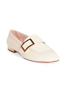 Roger Vivier Leather Buckle Loafers