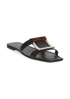 Roger Vivier Leather Buckle Sandals