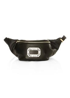 Roger Vivier Leather Embellished Fanny Pack