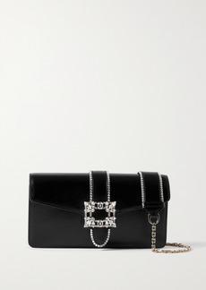 Roger Vivier Miss Vivier Crystal-embellished Leather Shoulder Bag