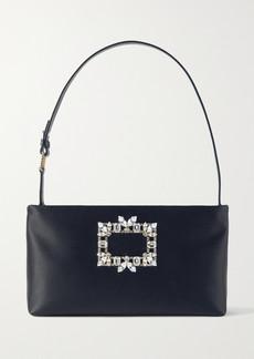 Roger Vivier Nightlily Embellished Satin Shoulder Bag