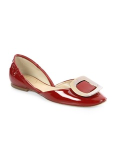 Roger Vivier Patent Leather d'Orsay Flats