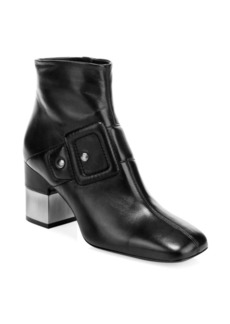 Roger Vivier Podium Leather Buckle Boots