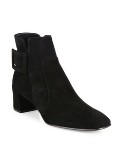 Roger Vivier Polly Suede Block Heel Booties