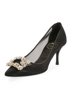 Roger Vivier 65mm Strass Mesh Pump