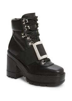 Roger Vivier Buckle Platform Hiking Boot (Women)