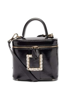 Roger Vivier Crystal-buckle patent-leather cross-body bag