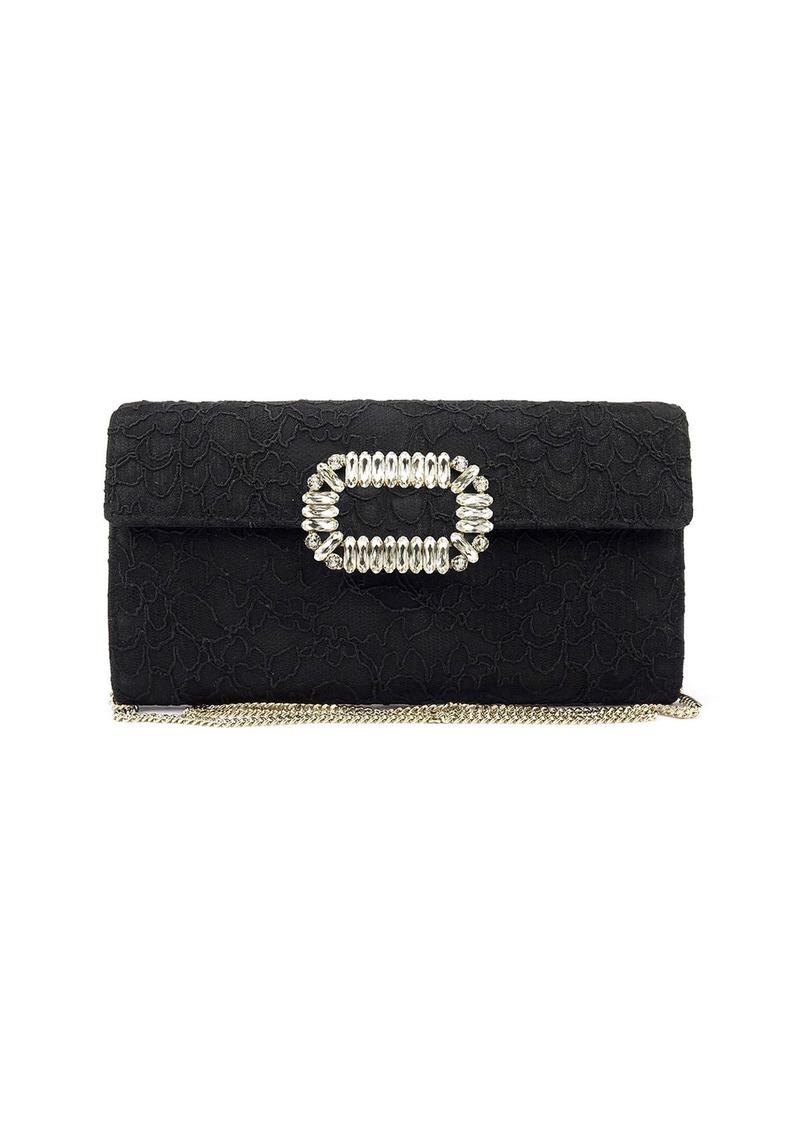 Roger Vivier Envelope Flap Lace Clutch Bag  e741ba28559d1