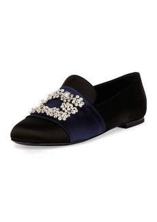 Roger Vivier Floral-Strass Smoking Slipper