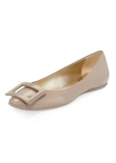 Roger Vivier Gommette Leather Buckle Ballet Flats