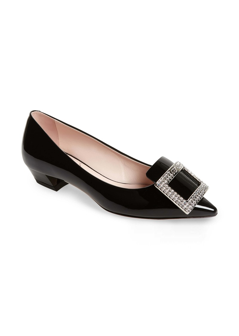 Roger Vivier Gommettine Embellished Buckle Loafer Pump (Women)