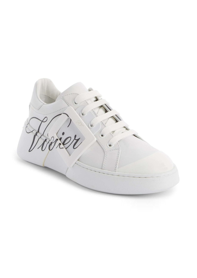 Roger Vivier Logo Lace-Up Skate Sneaker (Women)