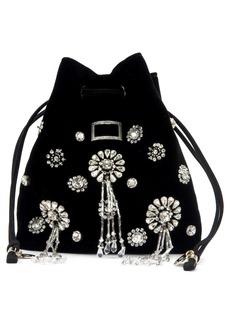 Roger Vivier Mini Viv Pocket Grande Soirée Embellished Velvet Bucket Bag