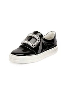 Roger Vivier Patent Strass Buckle Sneakers