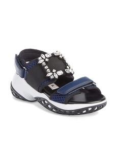 Roger Vivier Run Strass Buckle Sandal (Women)