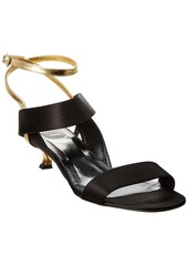 Roger Vivier Satin & Leather Sandal