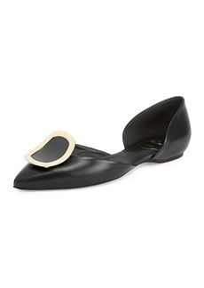 Roger Vivier Sexy Choc Leather Ballet Flats