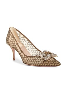 Roger Vivier Sin Metallic Mesh Pointed Toe Pump (Women)
