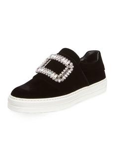 Roger Vivier Sneaky Viv Strass Buckle Sneakers