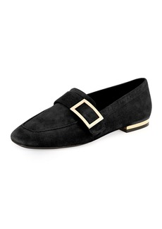 Roger Vivier Suede Metal-Buckle Loafer