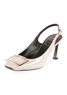 Roger Vivier Trompette 70mm Iridescent Leather Slingback Pump
