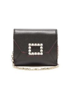 Roger Vivier Très Vivier small crystal-embellished leather bag