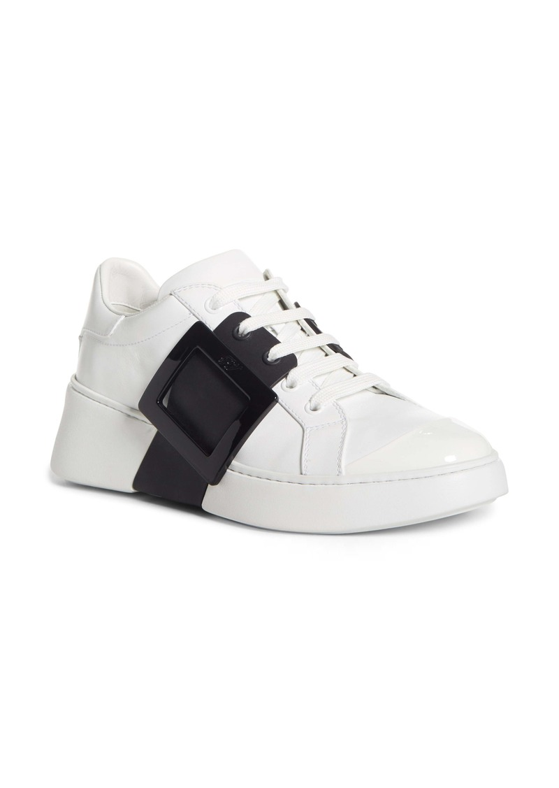 Roger Vivier Viv Buckle Lace-Up Sneaker (Women)