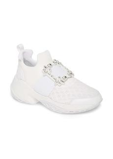 Roger Vivier Viv Crystal Buckle Slip-On Sneaker (Women)