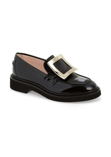 Roger Vivier Viv Rangers Buckle Leather Loafer (Women)