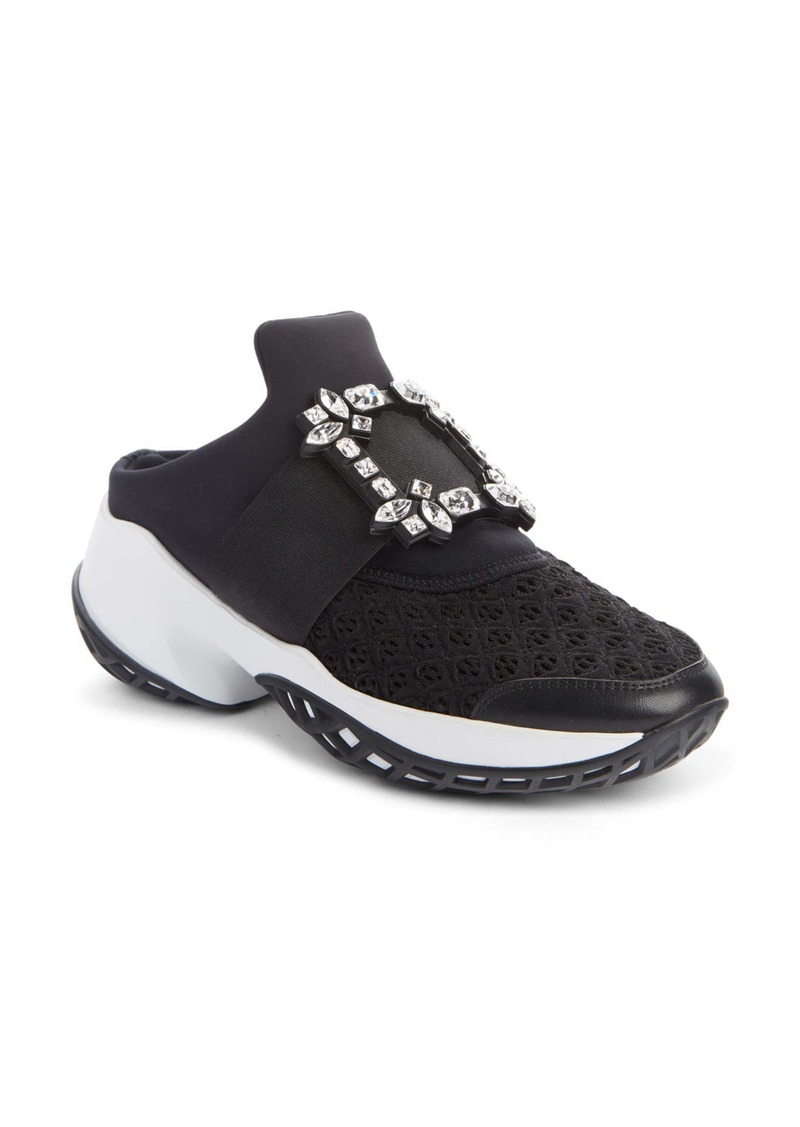 Roger Vivier Viv Run Crystal Buckle Mule Sneaker (Women)